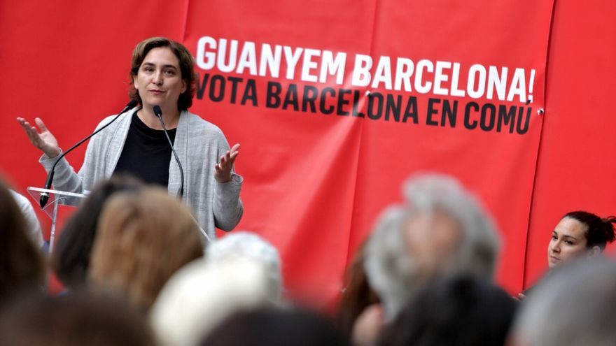 Ada Colau, alcaldable por Barcelona en Comú, en un mitin en Sarrià / ENRIC CATALÀ