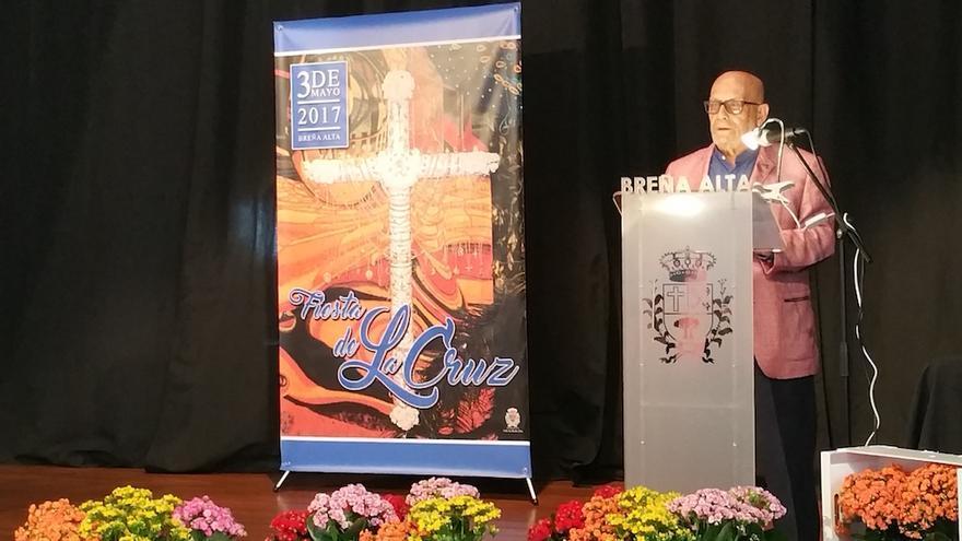 Manuel González Plata durante su intervención este domingo.