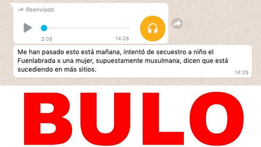 No, no hay pruebas de que una mujer musulmana haya intentado secuestrar a un niño en Fuenlabrada (Madrid)