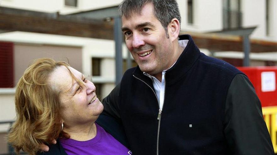 El candidato de Coalición Canarias a la presidencia del Gobierno de Canarias, Fernando Clavijo. (EFE/Cristóbal García)