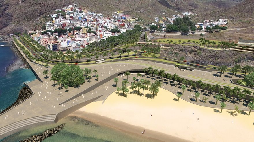Las Teresitas, según el Plan Especial de Ordenación previsto por el Ayuntamiento de Santa Cruz