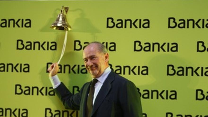Rodrigo Rato En El Debut De Bankia En Bolsa