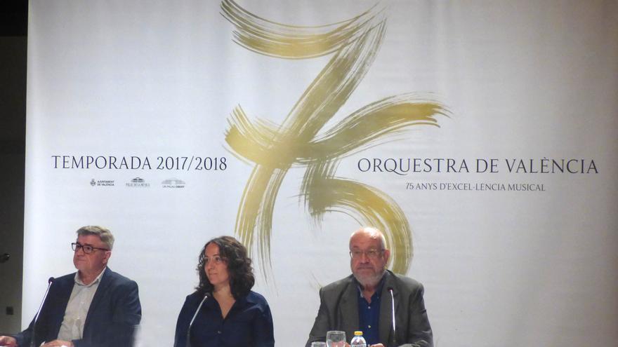 Gloria Tello en la presentación de la temporada del Palau de la Música