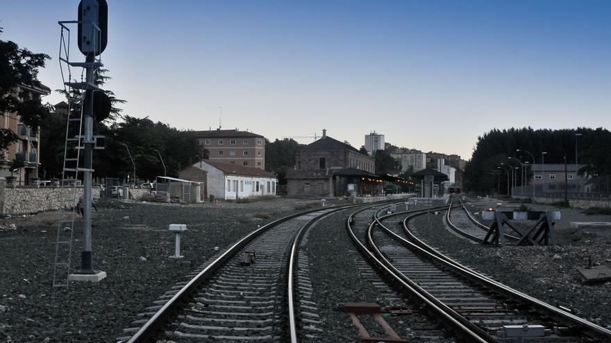 Entrada a la estación de Teruel.
