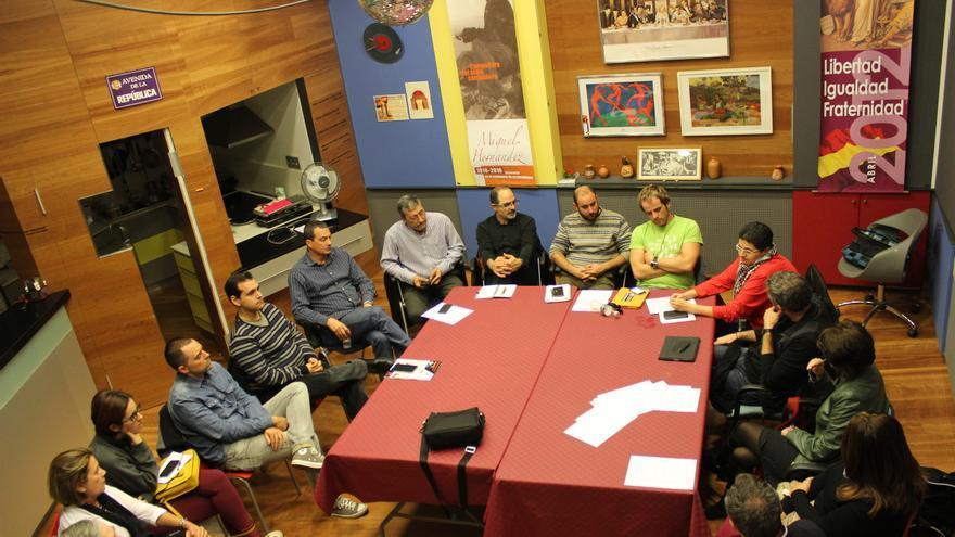 Buena parte de la reunión se dedicó a la cuadratura del círculo de Podemos dentro de Ganemos la Región de Murcia / PSS