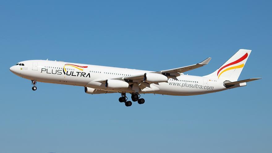 Imagen de archivo de una aeronave de la compañía Plus Ultra