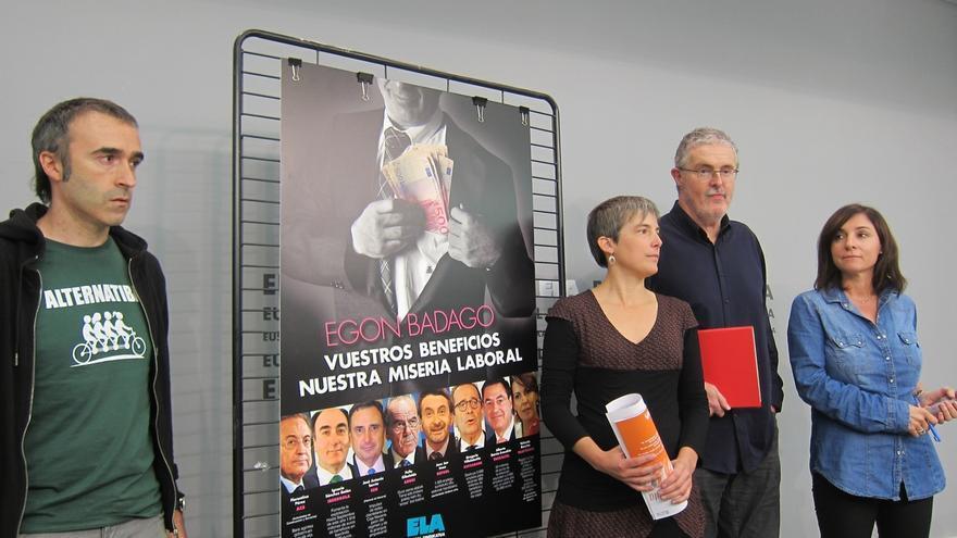 """Muñoz (ELA) defiende su campaña contra la precariedad y dice que se tiene que """"señalar"""" a quien """"explota a la gente"""""""