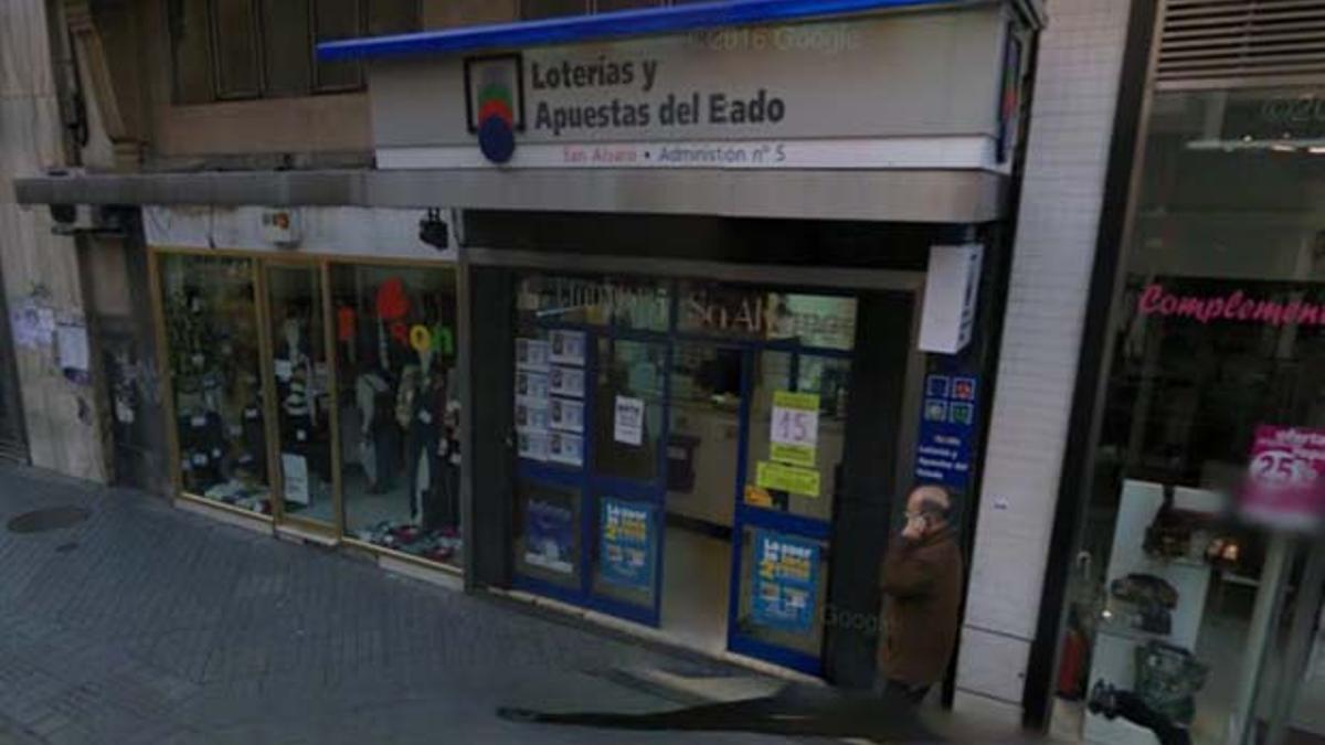 Una administración de lotería de Córdoba.