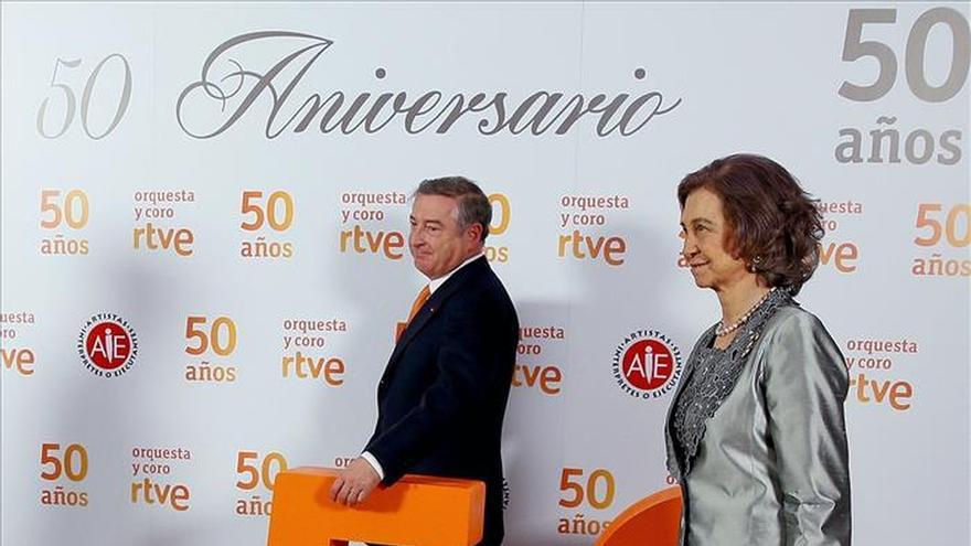 Doña Sofía preside el concierto del 50 aniversario de la Orquesta de RTVE