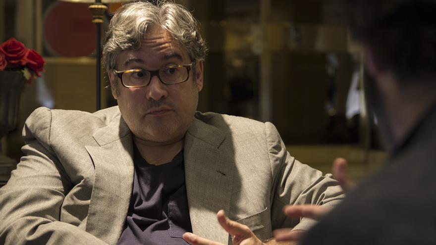 Juan Manuel de Prada durante la entrevista
