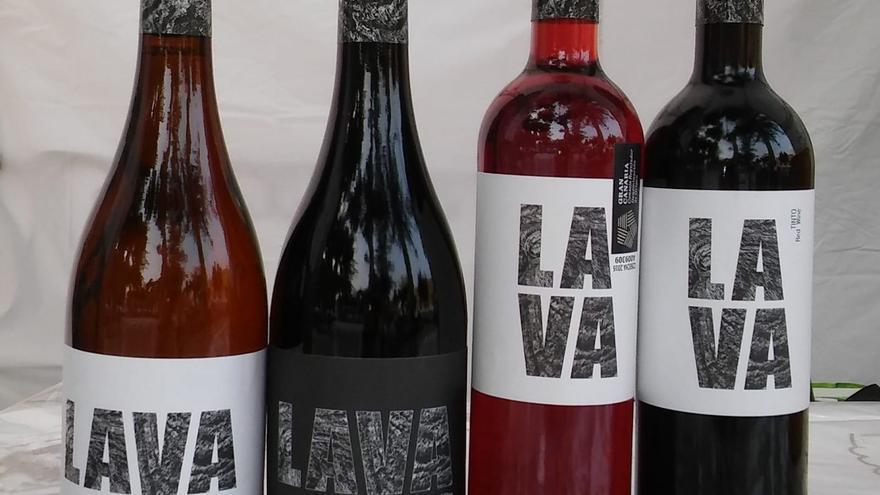 Botellas del vino 'Lava'