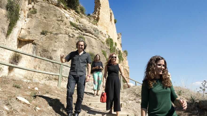 Maria Josep Amigó ha visitat el castell de Montesa