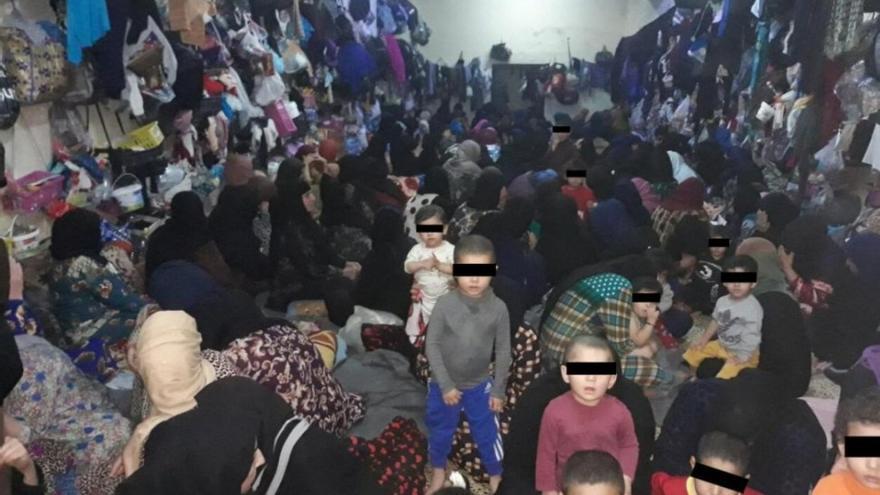 Cárcel de mujeres y niños de Tal Kayf en Irak, foto tomada en abril de 2019.