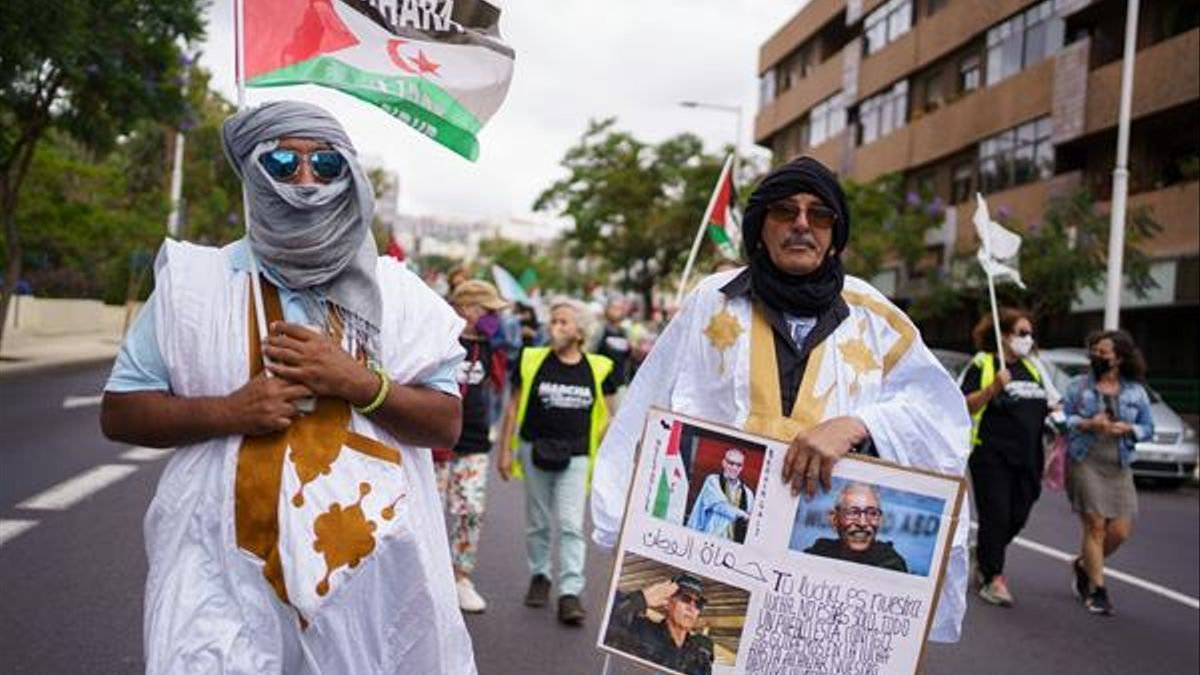Marcha por la libertad del pueblo saharaui en Tenerife.EFE/Ramón de la Rocha