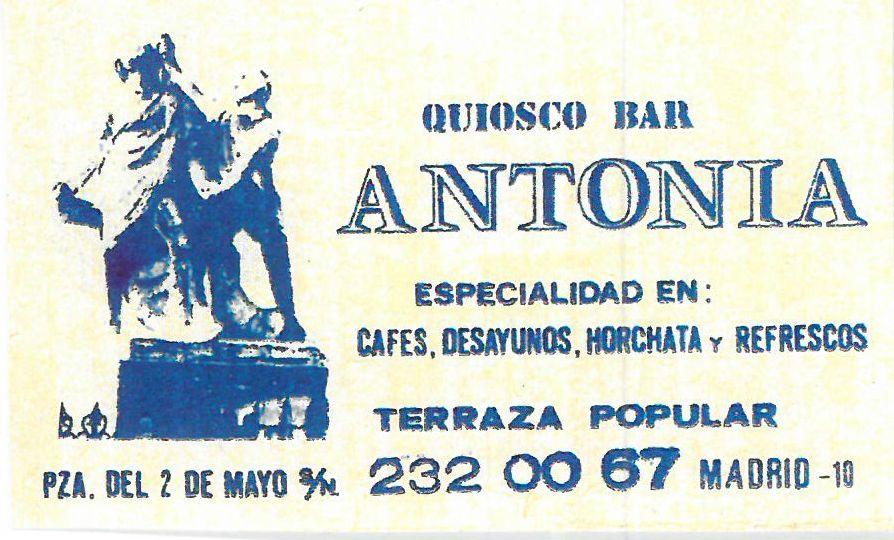 Anuncio del Quiosco Bar Antonia | CARPETANIA
