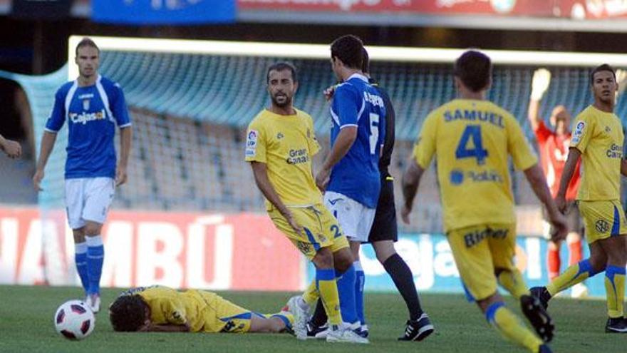 Imágenes de un enfrentamiento entre la UD y el Xerez la pasada temporada (ACFIPRESS).