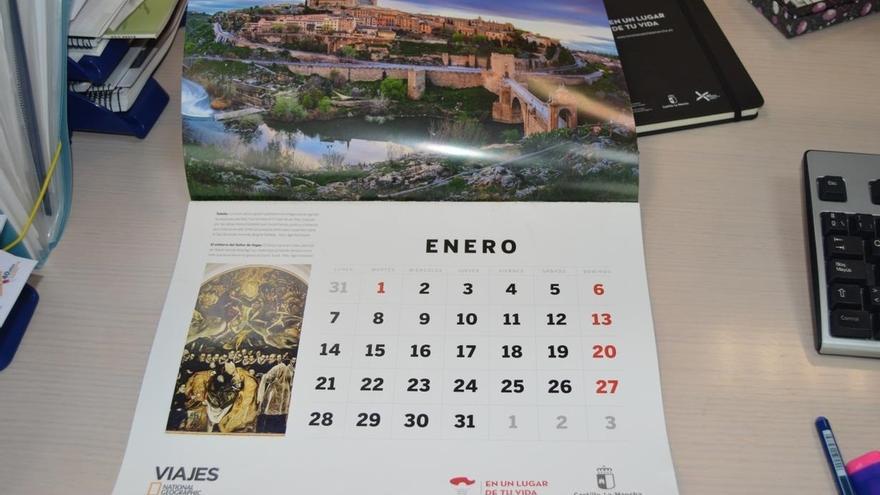 Calendario 2019 de la revista Viajes National Geographic. En enero lo protagoniza Toledo