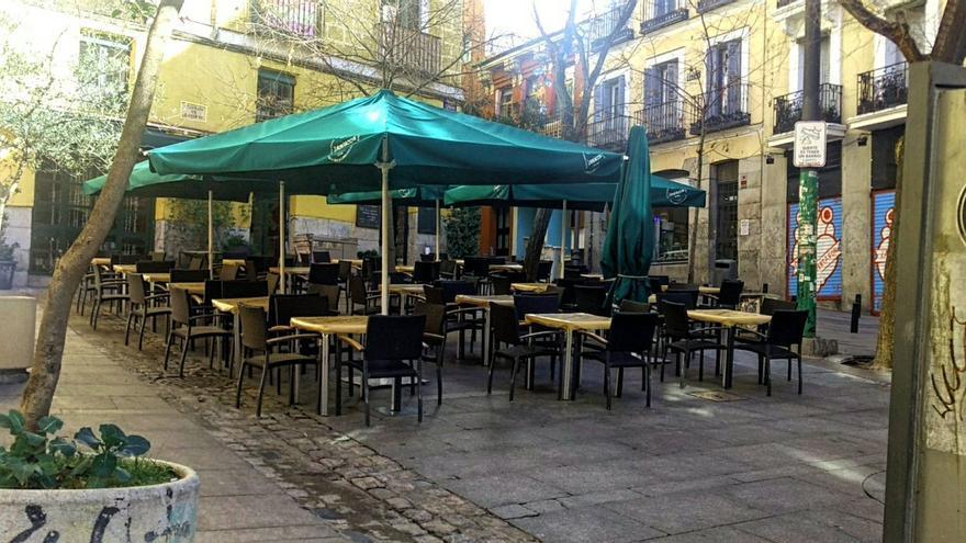 Terraza de La Mucca en la plaza de Carlos Cambronero   SOMOS MALASAÑA (Archivo)