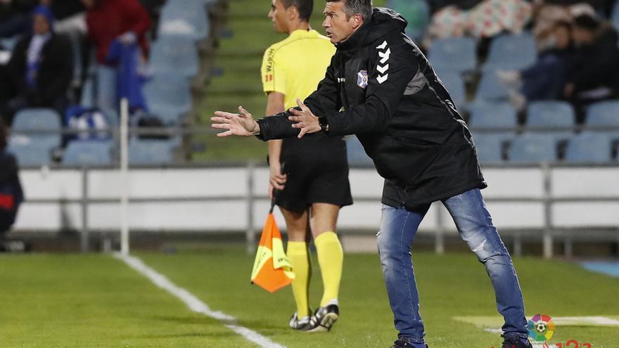 El entrenador del CD Tenerife, Jose Luis Martí.