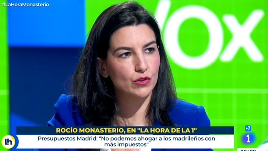 """El corte de TVE a Monasterio cuando hablaba de """"colocar a políticos en puestecitos"""": """"Acusan de eso a Abascal"""""""