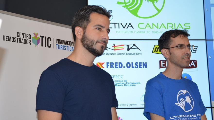 Tanausú Zumaquero (gerente) y José Luis Echevarría (presidente) de Activa Canarias