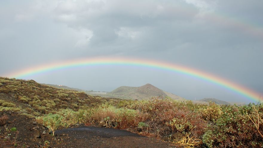 Lluvias débiles y ocasionales  este martes en el norte y este de La Palma