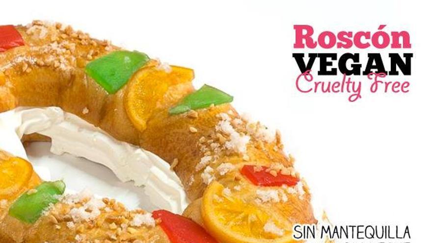 Roscón de Reyes vegano, por encargo en Veggie Room (Madrid)