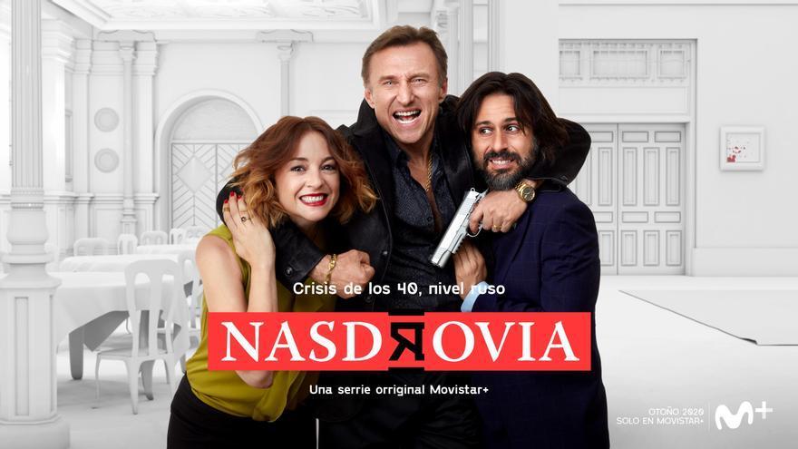 Movistar+ lanza el cartel de 'Nasdrovia', la nueva comedia protagonizada por Hugo Silva y Leonor Watling