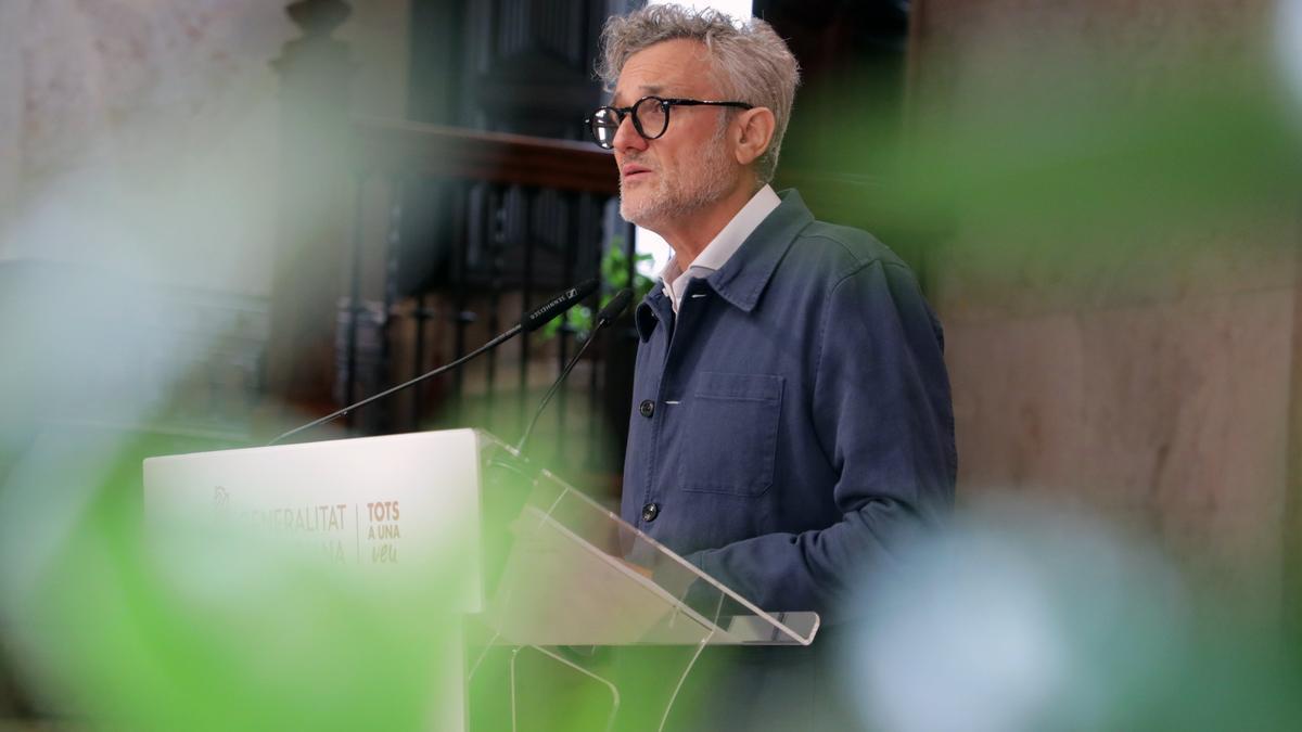 El comisionado de Presidencia de la Generalitat Valenciana para la Salud Mental, Rafael Tabarés, en la presentación del plan de choque / Ana Avellana.