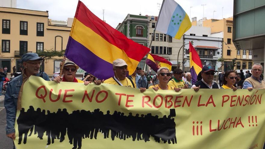 Manifestación del Primero de Mayo en las calles de Las Palmas de Gran Canaria