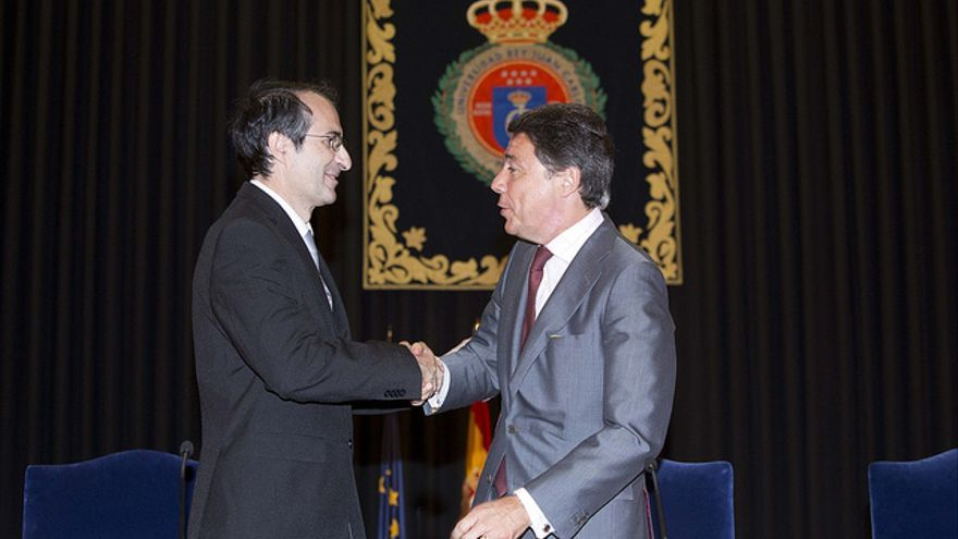 El rector de la URJC, Fernando Suárez, en su toma de posesión