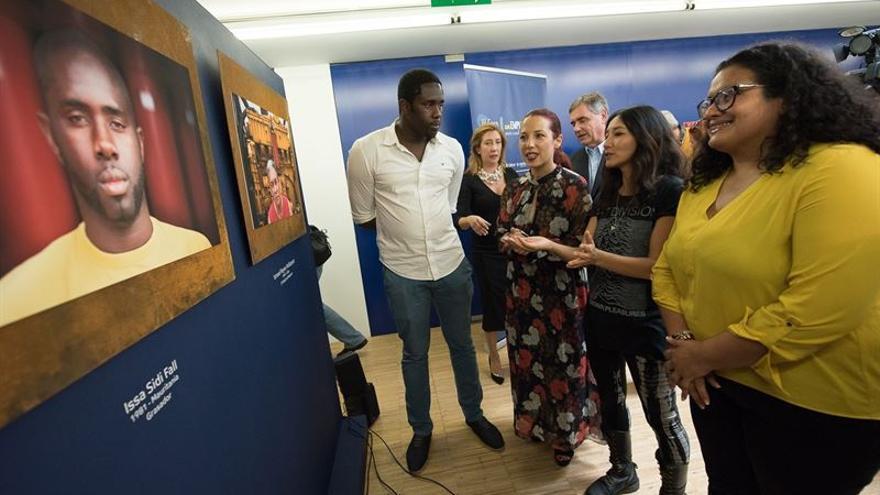 Un momento de la inauguración de la exposición 'Óxido' / Tony Cuadrado