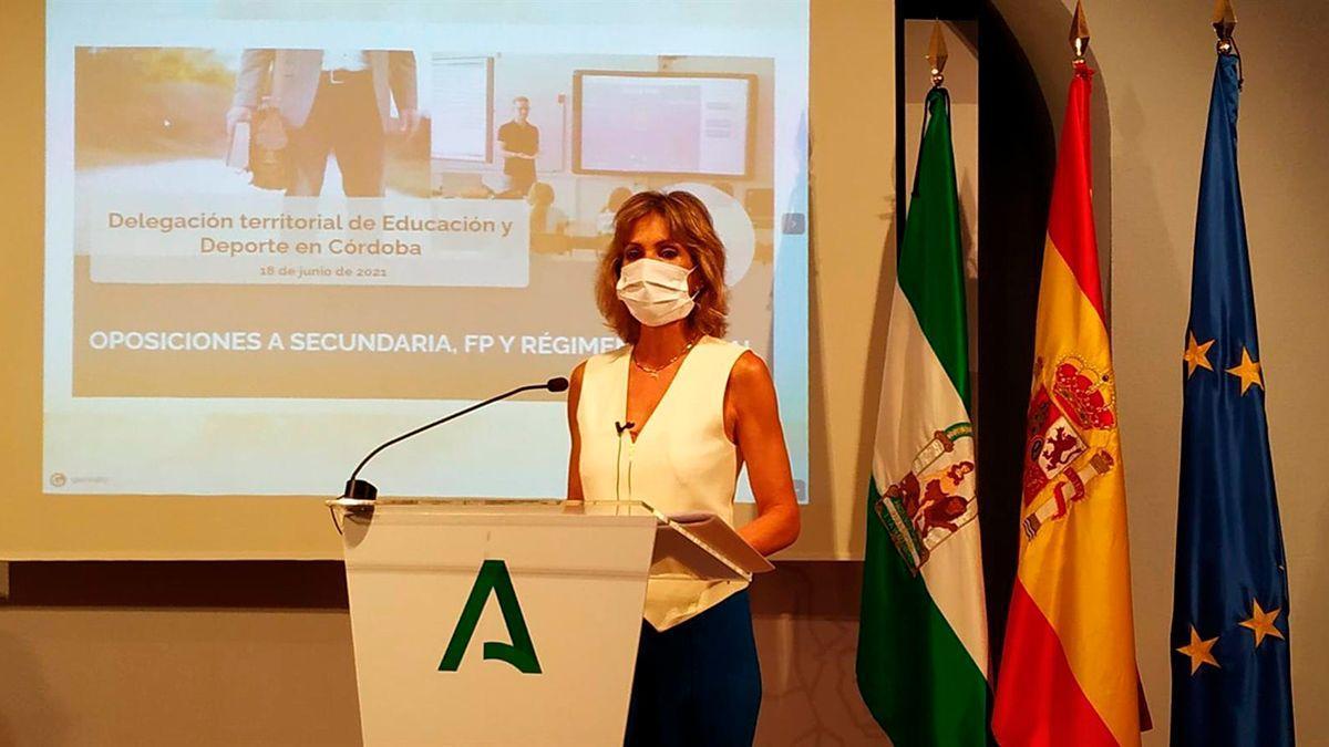 Inmaculada Troncoso informa del dispositivo para las oposiciones de Educación.