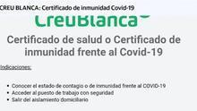 Las clínicas privadas Creu Blanca y Teknon de Barcelona ofrecen tests de coronavirus por 200 y 230 euros