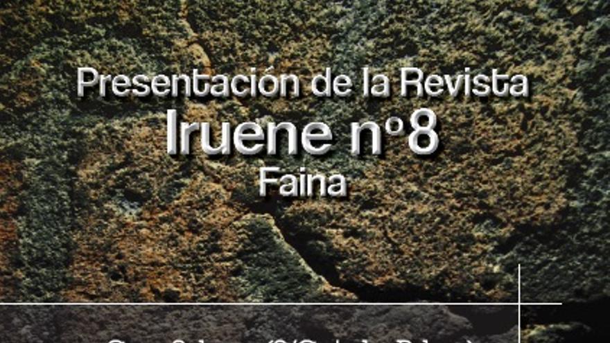 Cartel de la presentación del número 8 de la revista Iruene.
