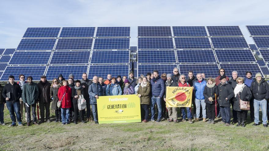 Socios de la cooperativa 'Som Energia'.