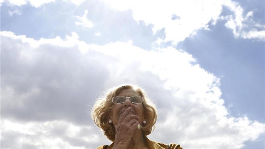 Carmena condena las agresiones a la prensa en la concentración de Colón