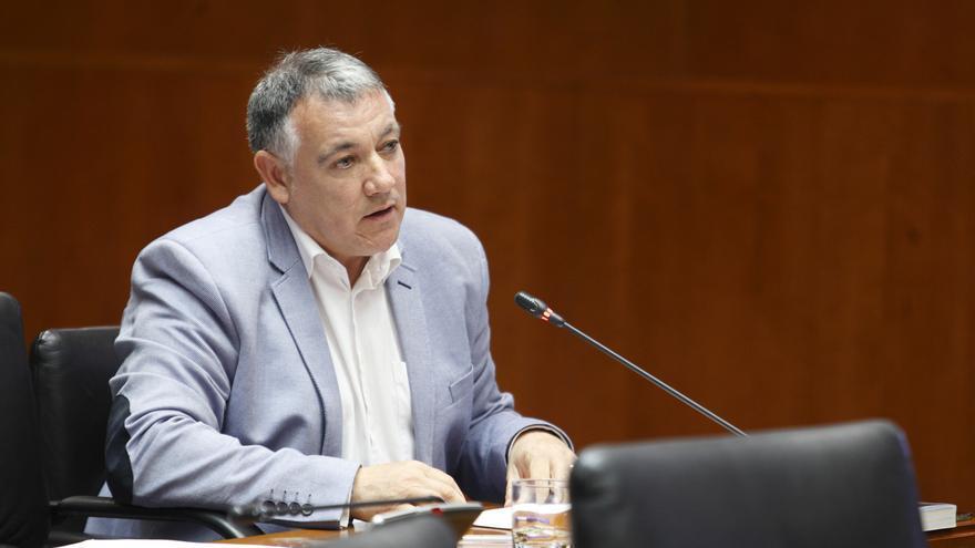 José Luis Juste en las Cortes de Aragón.
