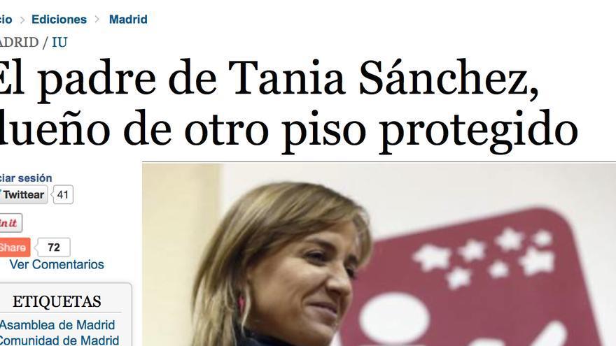 Información rectificada de La Razón sobre el padre de Tania Sánchez.