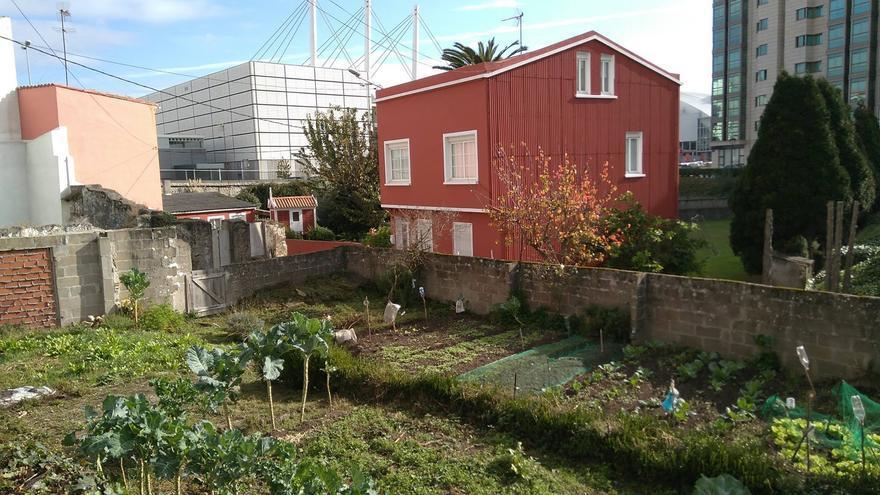 Una de las viviendas amenazadas por el Plan General del 2013, ejemplo de convivencia de lo rural con lo urbano