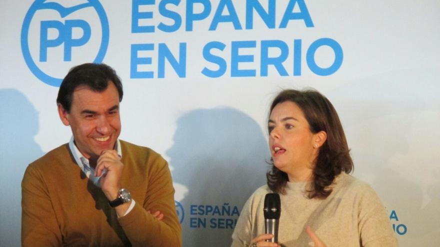 """Santamaría ensalza la experiencia para gobernar y tacha a Sánchez y Rivera como """"el señor no y el señor nada"""""""