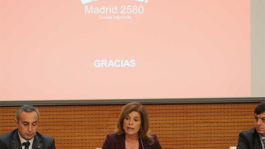 Ana Botella en una imagen de archivo, presentando la candidatura Madrid 2580.
