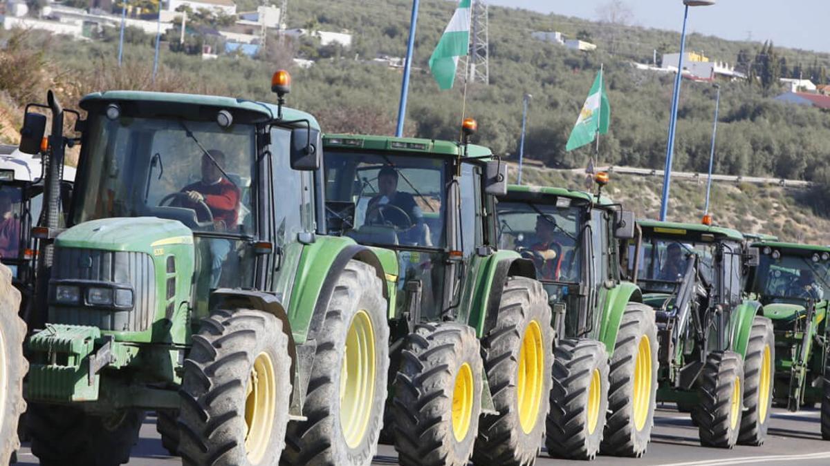 Tractorada en Lucena