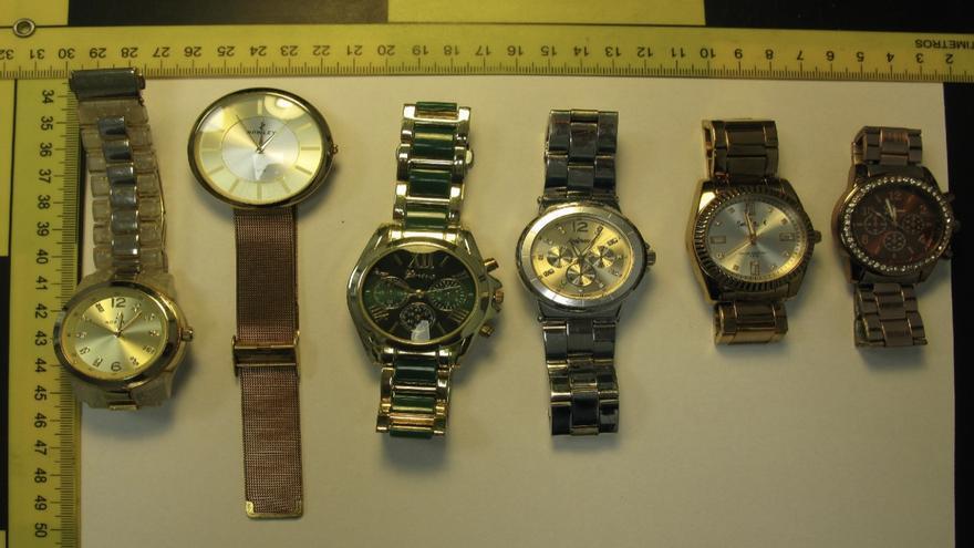 Relojes sustraídos que han sidor ecuperados y entregados a su legítimo propietario,