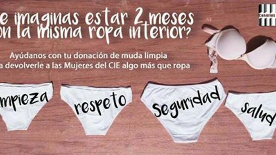 Campaña de recogida de ropa interior para las mujeres del CIE de Barranco Seco