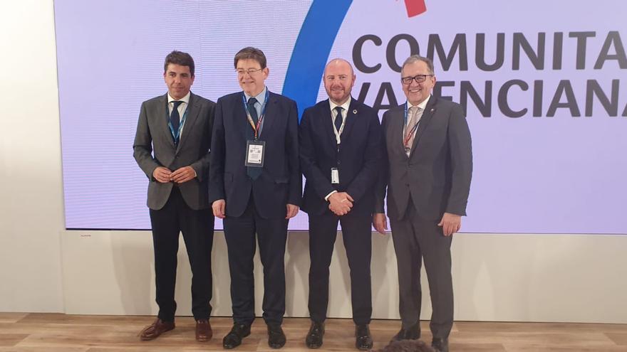 El jefe del Consell, Ximo Puig, junto a los presidente de las Diputaciones de Alicante, Valencia y Castellón.