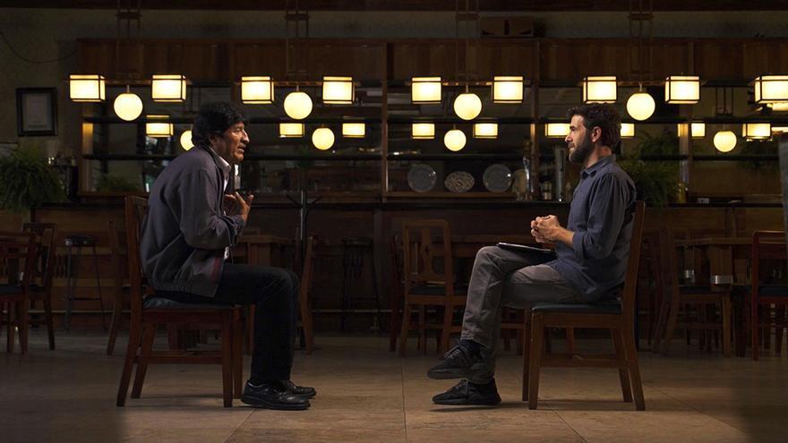 Evo Morales con Gonzo en 'Salvados'