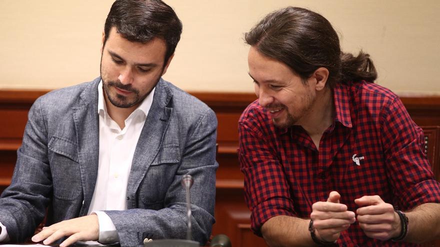 """Pablo Iglesias apuesta por construir la confluencia con IU """"por abajo"""" para que las bases se """"acostumbren"""" a convivir"""