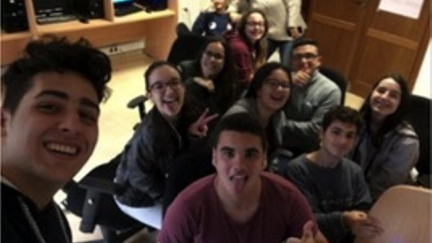 Un grupo de alumnos del proyecto de intercambio juvenil Youth Stormen. Foto: Ayuntamiento de San Andrés y Sauces.