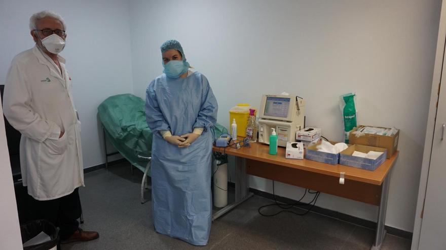 Consulta para pacientes con alta hospitalaria de COVID-19 en el Centro de Especialidades de Toledo